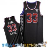 Maillot NBA 2015 All Star NO.33 Marc Gasol Noir Pas Cher