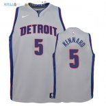 Maillot NBA Enfant Detroit Pistons NO.5 Luke Kennard Gris Statement 2017-2018 Pas Cher