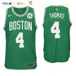 Maillot NBA Boston Celtics NO.4 Isaiah Thomas Vert 2017-2018 Pas Cher