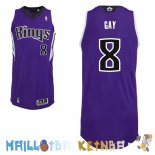 Maillot NBA Sacramento Kings NO.8 Rudy Gay Purpura Pas Cher