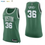 Maillot NBA Femme Boston Celtics NO.36 Marcus Smart Vert Icon Pas Cher