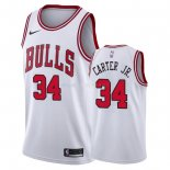 Maillot Chicago Bulls Nike NO.34 Wendell Carter Jr. Blanc Association Pas Cher
