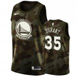Maillot Golden State Warriors Nike NO.35 Kevin Durant Camouflage 2019 Pas Cher