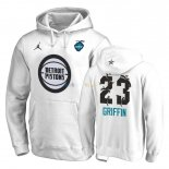 Hoodies NBA 2019 All Star Detroit Pistons NO.23 Blake Griffin Blanc Pas Cher