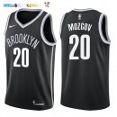 Maillot NBA Brooklyn Nets NO.20 Timofey Mozgov Noir Icon 2017-2018 Pas Cher
