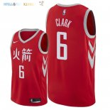 Maillot NBA Houston Rockets NO.6 Gary Clark Nike Rouge Ville 2018 Pas Cher