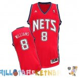 Maillot NBA Brooklyn Nets NO.8 Deron Michael Williams Rouge Pas Cher