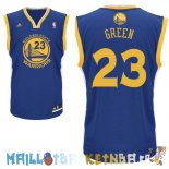 Maillot NBA Golden State Warriors NO.23 Draymond Green Bleu Pas Cher