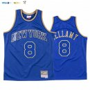 Maillot NBA CNY Throwback New York Knicks NO.8 Walt Bellamy Bleu 2020