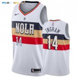 Maillot New Orleans Pelicans NO.14 Brandon Ingram Blanc Earned 2019-20