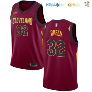 Maillot NBA Cleveland Cavaliers Nike Icon NO.32 Jeff Green Bordeaux Pas Cher