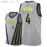 Maillot NBA Indiana Pacers NO.4 Victor Oladipo Nike Gris Ville 2018-2019 Pas Cher
