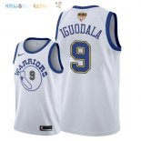 Maillot NBA Golden State Warriors 2018 Finales Champions NO.9 Andre Iguodala Retro Blanc Pas Cher