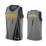 Maillot NBA Indiana Pacers Nike NO.1 T.J. Warren Gray Nike Gris Ville 2019-20 Pas Cher
