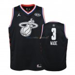 Maillot NBA Enfant 2019 All Star NO.3 Dwyane Wade Noir Pas Cher