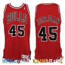 Maillot NBA Chicago Bulls Retro NO.45 Michael Jordan Rouge Pas Cher