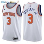 Maillot NBA New York Knicks NO.3 Tim Hardaway Jr Blanc Association 2017-2018 Pas Cher