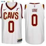 Maillot NBA Cleveland Cavaliers NO.0 Kevin Love Blanc 2017-2018 Pas Cher