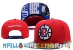 Casquette Snapback NBA 2016 Los Angeles Clippers Rouge Blanc Pas Cher
