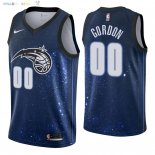 Maillot NBA Orlando Magic NO.0 Aaron Gordon Nike Marine Ville 2018 Pas Cher