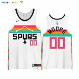 Maillot NBA Earned Edition San Antonio Spurs NO.00 Johnny Moore Blanc 2020-21