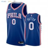 Maillot NBA Philadelphia Sixers NO.0 Justin Patton Bleu Icon 2018 Pas Cher