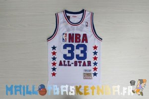 Maillot NBA 1990 All Star NO.33 Larry Joe Bird Blanc Pas Cher