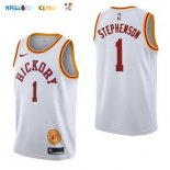 Maillot NBA Indiana Pacers NO.1 Lance Stephenson Retro Blanc 2017-2018 Pas Cher