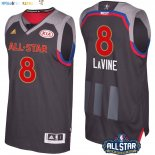 Maillot NBA 2017 All Star NO.8 Zach Lavine Charbon Pas Cher
