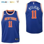 Maillot NBA Enfant New York Knicks NO.11 Frank Ntilikina Bleu Icon Pas Cher