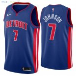 Maillot NBA Detroit Pistons NO.7 Stanley Johnson Bleu Icon 2018 Pas Cher