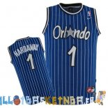 Maillot NBA Orlando Magic NO.1 Anfernee Hardaway Bleu Pas Cher