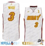 Maillot NBA Miami Heat NO.3 Dwyane Wade Blanc Or Pas Cher