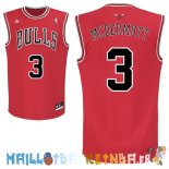 Maillot NBA Chicago Bulls NO.3 Doug McDermott Rouge Pas Cher
