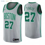 Maillot NBA Boston Celtics NO.27 Daniel Theis Nike Gris Ville 2018 Pas Cher