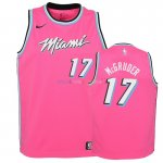 Maillot NBA Enfant Earned Edition Miami Heat NO.17 Rodney McGruder Rose 2018-19 Pas Cher