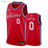 Maillot NBA Philadelphia Sixers NO.0 Justin Patton Rouge Statement 2018 Pas Cher