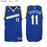 Maillot NBA Golden State Warriors NO.11 Klay Thompson 2016-2017 Bleu Pas Cher