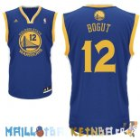 Maillot NBA Golden State Warriors NO.12 Andrew Bogut Bleu Pas Cher