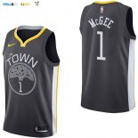 Maillot NBA Golden State Warriors NO.1 JaVale McGee Noir Statement 2017-2018 Pas Cher
