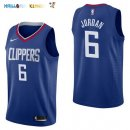 Maillot NBA Los Angeles Clippers NO.6 DeAndre Jordan Bleu Icon 2017-2018 Pas Cher
