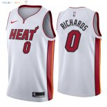 Maillot NBA Miami Heat NO.0 Josh Richardson Blanc Association 2018 Pas Cher