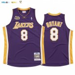 Maillot Los Angeles Lakers NO.8 Kobe Bryant Pourpre 2000 01