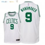 Maillot NBA Enfant Boston Celtics NO.9 Bradley Wanamaker Blanc Association 2018 Pas Cher