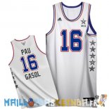 Maillot NBA 2015 All Star NO.16 Pau Gasol Blanc Pas Cher