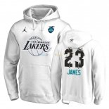 Hoodies NBA 2019 All Star Los Angeles Lakers NO.23 LeBron James Blanc Pas Cher