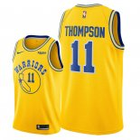 Maillot NBA Golden State Warriors Nike NO.11 Klay Thompson Jaune Ville Pas Cher