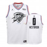 Maillot NBA Enfant 2019 All Star NO.0 Russell Westbrook Blanc Pas Cher
