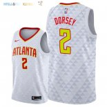 Maillot NBA Atlanta Hawks NO.2 Tyler Dorsey Blanc Association 2018 Pas Cher