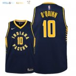 Maillot NBA Enfant Indiana Pacers NO.10 Kyle O'Quinn Marine Icon 2018-19 Pas Cher